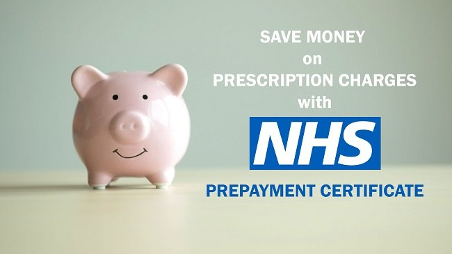 Save money with NHS prescription prepayment certificate
