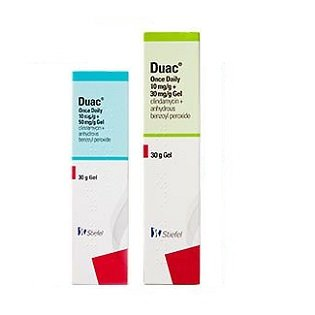 Duac Once Daily Gel is most popular topical drug for acne in the UK