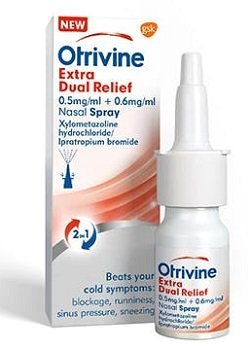 Otrivine Extra Dual Relief: unique combination of ipratropium bromide and xylometazoline hydrochloride