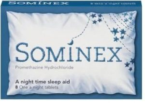 Sominex - over the counter sleeping tablets containing promethazine