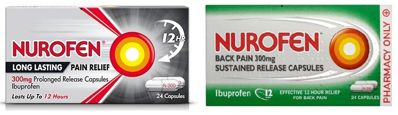 The strongest over the counter ibuprofen - Nurofen 300mg sustained release capsules