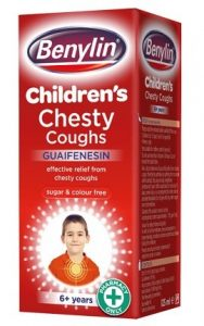Benylin children medicine for chesty coughs