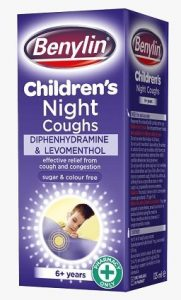 Benylin childrens night - drowsy cough medicine for chesty cough