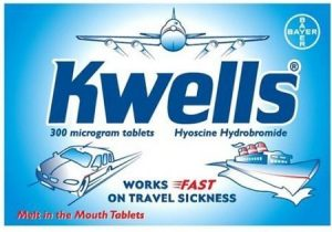 Kwells - anti-nausea tablets for travel sickness