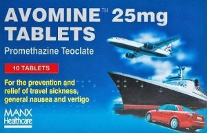 Avomine - Anti-sickness tablets for sickness caused by motion sickness