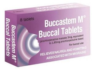 Buccastem M - anti-nausea tablets for management of migraine symptoms is available over the counter