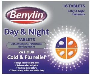 Benylin Day and Night - contains paracetamol