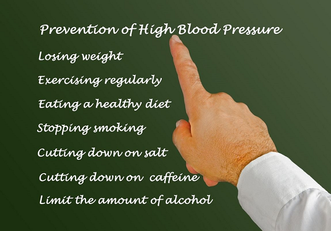 Lifestyle changes to prevent high blood pressure
